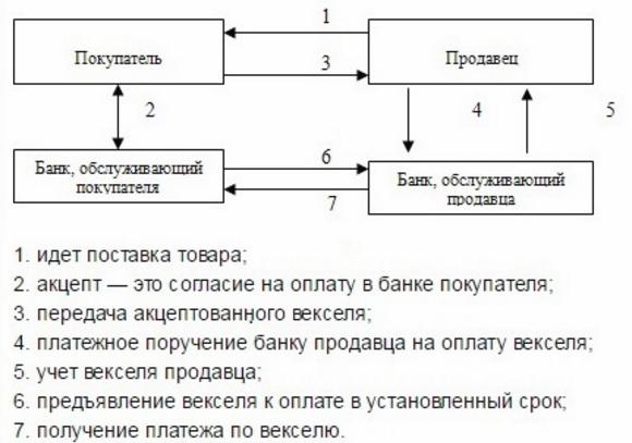 Схема вексельного обращения