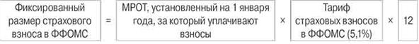 расчет взносов ФФОМС