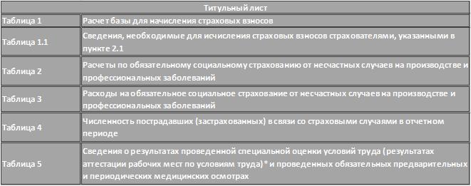Состав формы 4-фсс
